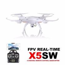 Drone Syma X5sw, Wifi, Transmision En Vivo Camara Hd 2mp Cel