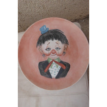 Plato Crying Clown Payaso Llorando By Kay Porcelana Vintage