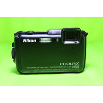 Camra Nikon Coolpix Aw120, Sumergible Hasta 18m, 16mp, Full