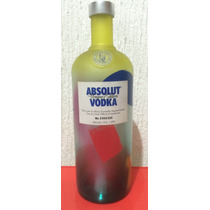 Botella De Absolut Vodka Unique. Edición Limitada Y Seriada!