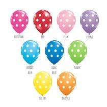 Globos De Puntos Polka Dots Para Tu Evento Decoración Fiesta