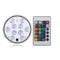 Base Led Sumergible Multicolor Centro De Mesa Decoracion 2pz