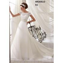Vestido Novia Nuevo Barato Bonito Elegante Linea A Princes61