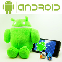 Peluche De Android Figura Robot Celular Anime Coleccion