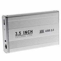 Case Gabinete Sata De Aluminio Disco Duro 3.5 Computadora