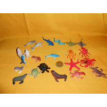 Animales Marinos,figuras,maqueta O Coleccion,22 Piezas.