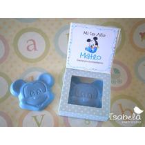 Invitación Recuerdo Mickey Mouse Cajita Cumpleaños Presenta