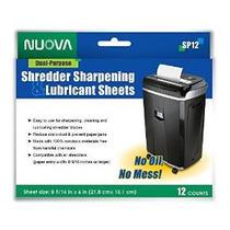 Nuova Sp12 Shredder Afilado & Lubricantes Hojas 12 Count