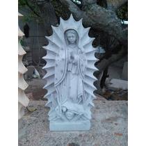 Virgen De Guadalupe, Labrada En Cantera Natural De 50 Cm Alt