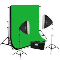 Estudio Fotografico Kit De Iluminacion Portafondo Soft Hm4