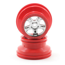 Traxxas 5972a Red Beadlock Wheels Rines Para Slayer (2)