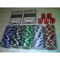 125 Fichas Casino De Poker. 5 Dados Y 2 Decks De Cartas.