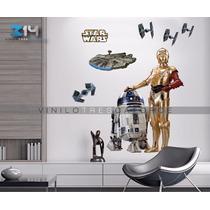 Vinilo Decorativo Star Wars 30 C-3po R2-d2, Halcón Milenario