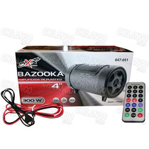 Bazooka Amplificada 4 Pulg Control Remoto Usb Sd Mp3