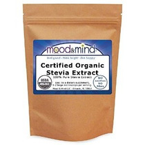Orgánica Polvo Extracto De Stevia (100% Puro Sin Rellenos Si