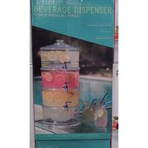 Dispensador Acrilico De Agua ( 3 Niveles)con Hielera En Base