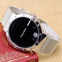 Reloj Paidu Acero Inox. Placas Giratorias Marcación H/m/s