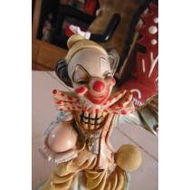 Figura Payaso Clown Retro Vintage Italia Europa Decoracion