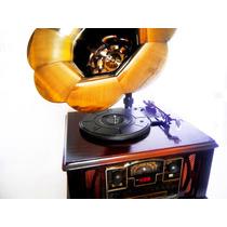 Fonografo Vintage Reproduce Lp Cd Mp3 Usb Radio Cassete