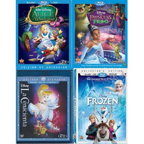 4 Princesas Disney En Combo Blue Ray Incluye Frozen Vv4