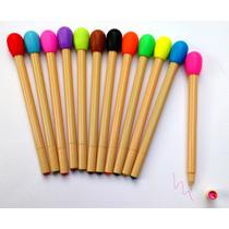 12 Plumas De Cerillos 12 Colores