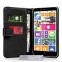 Yousave Accesorios Nokia Lumia 1320 Funda Negro Pu Billetera