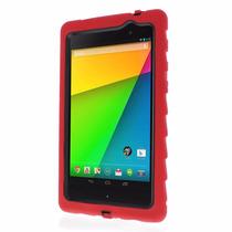 Funda Google Nexus 7 (2013) Gota Tecnología Rojo