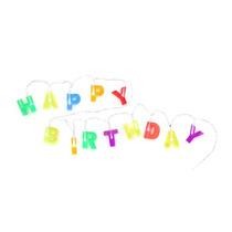 Letrero Happy Birthday Con Luz Feliz Cumpleaños Kikkerland