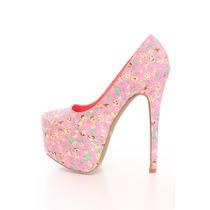 Zapatos Altos Con Plataforma Size 25 Mex,8 U Hermosos!