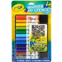 Crayola Aerógrafo Marker Y Stencil Paquete