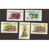 Estampilla Figuras Prehispanicas Ceramica De Nicaragua Vbf