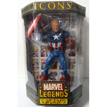 Marvel Legends Icons Capitan America Variante En Oferta