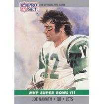 1990 Pro Set Mvp Sb Joe Namath Qb Jets