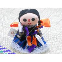 Muñeca De Trapo Tradicional Mexicana De 8 Cm