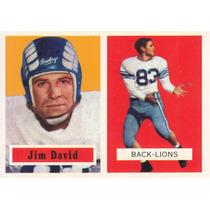 1957 Topps Archives Reprint Jim David De Lions