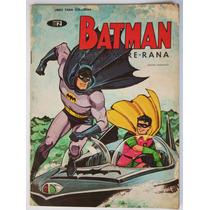 Batman Y El Hombre Rana 1968 Libro P/colorear Vintage Hm4