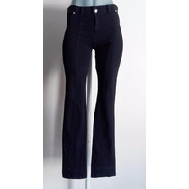 Pantalon Entubado Vestir Negro Stretch Moda Recto Grande O L