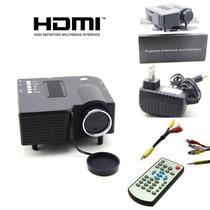 Mini Proyector Hd 60 Led Entrada Vga Usb Vbf