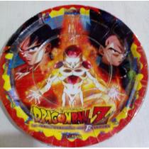 Dragon Ball Z Paq Platos O Vasos 10 Pzas Goku Freezer