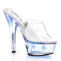 Zapatilla Pleaser Modelo Kiss-201 Lt Con Luces Led