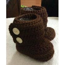 Botitas Tejidas Para Bebé. Crochet.