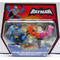 Batman Hombre Elemento Rex Mason Action League Mattel Vv4