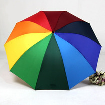 Paraguas Sombrilla Parasol Arcoiris Multicolor Spf 25+