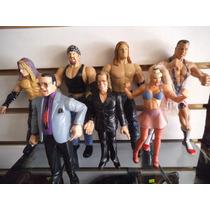 Lote 7 Figuras Wwe Titan Tron Lucha Libre Luchadores