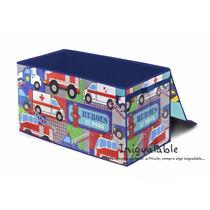 Caja Organizadora De Juguetes De Bomberos Y Ambulancias