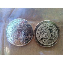 Monedas De Equipos De Futbol Chapadas En Oro Vbf
