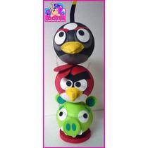 Angry Birds Centro De Mesa Fiesta Fofuchos Recuerdo Dulcero