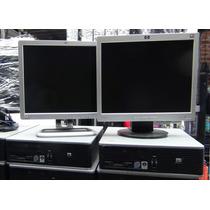Baratas Hp Computadoras Ciber Core2duo 4gb+160gb+ Monitor 17