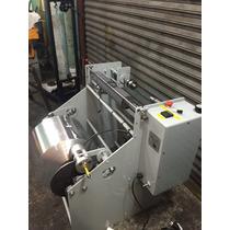 Rebobinadora Para Papel Aluminio, Sistema De Corte A Medida
