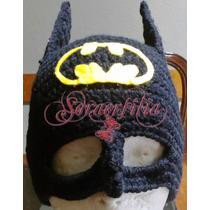 Gorros Gorritos Tejidos Super Heróes Batman Niños Bebes